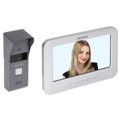 Kit videointerfon analogic HikVision DS-KIS203 cu Monitor video si Post exterior, Ecran 7 inch TFT Color