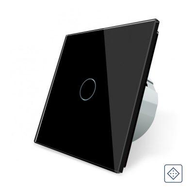 Intrerupator simplu cu revenire / contact uscat Livolo cu touch din sticla culoare neagra