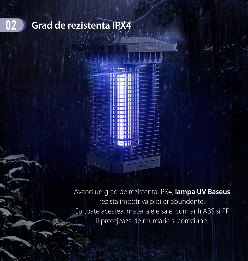 Lampa UV / Aparat Anti-Tantari Baseus, 18 W, Silentios, Rezistent la apa, Lungime de unda 365 nm