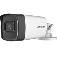 Camera de supraveghere HikVision Analog HD, Rezolutie 2 MP, Lentila 2.8 mm, Distanta IR 40 m, Microfon integrat