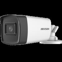Camera de supraveghere HikVision Analog HD, Rezolutie 5 MP, Lentila 2.8 mm, Microfon integrat, Infrarosu, Unghi vizual 85°